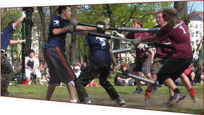 Pompfengefecht: Falco jugger vs. KSJ. Photo: Achazi